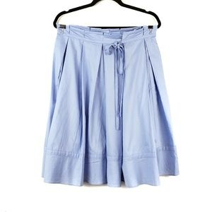 DKNY | Light Blue Paper Bag Bow Tie Pleated Skirt